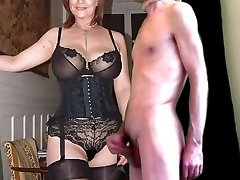 cuckold cum for mature huge-chested wife in stocking