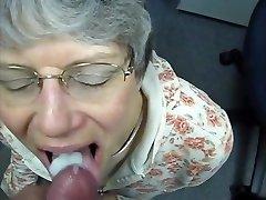 granny gulps cum like a good slut