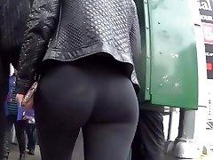 Sexy ass blond walk behind