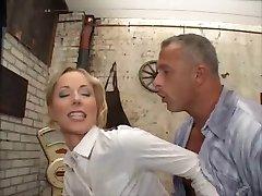 Bossy pierced anal blonde