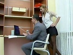 Hump in the office with Russian gal