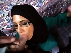 Watch this Nerdy Arab getting spears in her face!