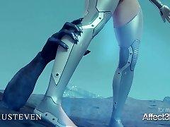 ig joška angelita, ki jo je močno pofukala pošast v 3d animaciji