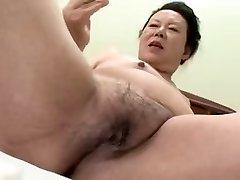 Jaapani BBW Vanaema shino moriyama 66-aastane H-0930
