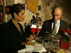 Stylish Italian Mature cheating husband on restaurant