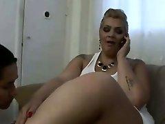Colombian gross girl licks fat feet