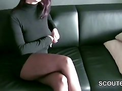 German Nylon Super-bitch get bang by Stranger