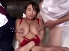 Screwing her nipples make her squirt