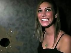 Neverjetno Amaterski video z Glory Hole,Blowjob prizorov