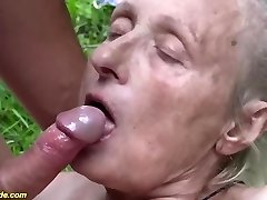 85 years old granny very first time outdoor sex