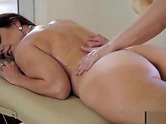 Hot milf mom seduce daughter - sex massage Part 1