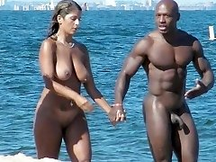 Nudists enjoying  Summer