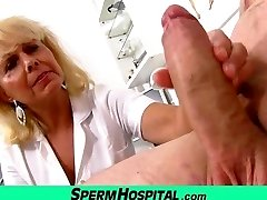 Wicked dame doctor Koko cfnm hospital handjob