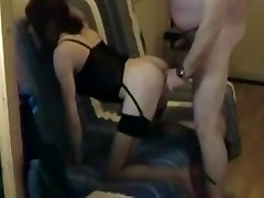 Shaved crossdresser ass fucked