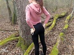 Forest Running, Anal Poking, Public Cumming