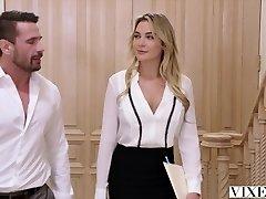 VIXEN Paralegal Has Hot Sex With Customer