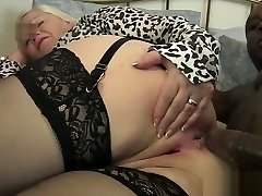 Old woman takes it in the ass by black cock
