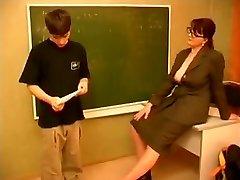 Teacher and boy