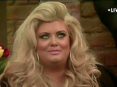 Blonde Bbw in Big Brother UK smoking