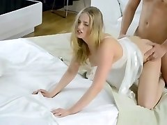 Teen totally creampied