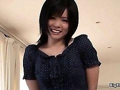 Busty asian slut goes crazy showing off part2