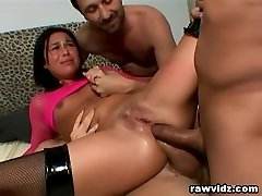 Bitch Gets Nasty DP Anal Gangbang Rock Hard Fuck