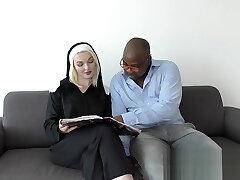 Nun Getting a Dark-hued Cock