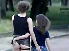Mom and stepdaughter masturbate in front of strangers (France)