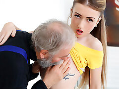 Empera in Old Man Smashes A New Babe - Old-n-Young