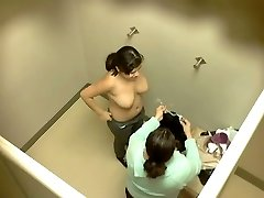 Emo teen with tattoos caught on hiddencam dressing room vid