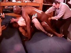 White Hotwife in a Room Full of Black Bulls