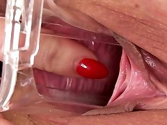 PJGIRLS Macro pussy speculum exploration deep inside Nathaly