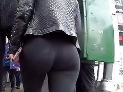 Sexy ass blond walk behind