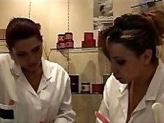 Interracial - Two French bitches, Talia and Kl&eacute_a,  works in a massage parlor