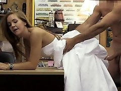 Blonde In Her Wedding Dress Doggsytyled In Pawn Shop