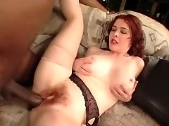 HAIRY MATURE TAKES BBC IN BOTH HOLES