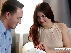 Romantic and sensual sex with red haired babe with pierced nipples Renata Fox