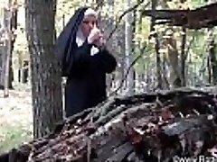 smoking nun fucked by devil