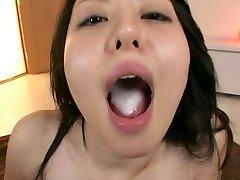 Ai Takeuchi swallows sperm