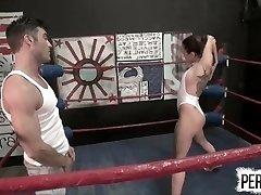 NÃO há REGRAS Wrestling com Roxanne Rae + Lance Hart (STRAPON, SWITCH)
