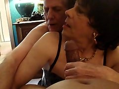 Crossdresser Bobbi Carol gets Spit Roasted
