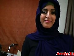 Arab hijabi fucked in forbidden constricted cum-hole