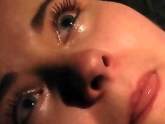 Orgasm and crying in pain in BDSM servitude
