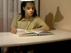 not father Interrupts Her Studies !
