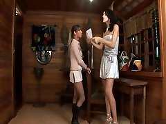 Tall ladyboy fucks a gal with a delight