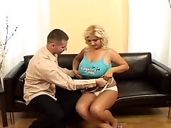 Busty blond acquires fucked
