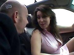 Impressive porn in car