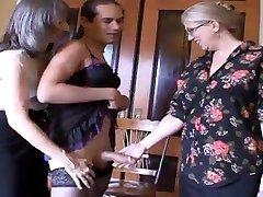 Mrs Enjoying and Ms Simone, tease and humilate this sissy boy