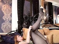 Milf in Stockings Hot Solo Show
