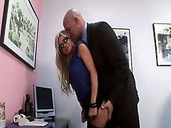 Naughty assistant gets rammed in her office